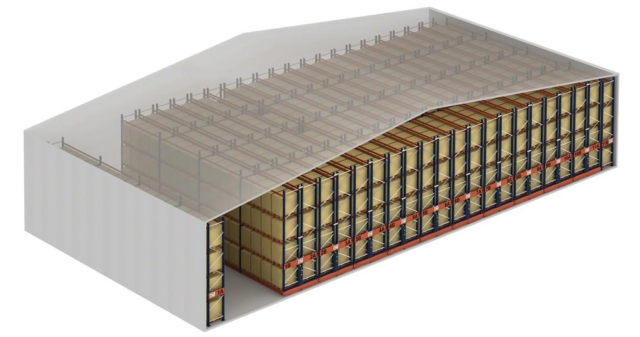 Increase in warehouse capacity with mobile racking. Elimination of individual access aisles.