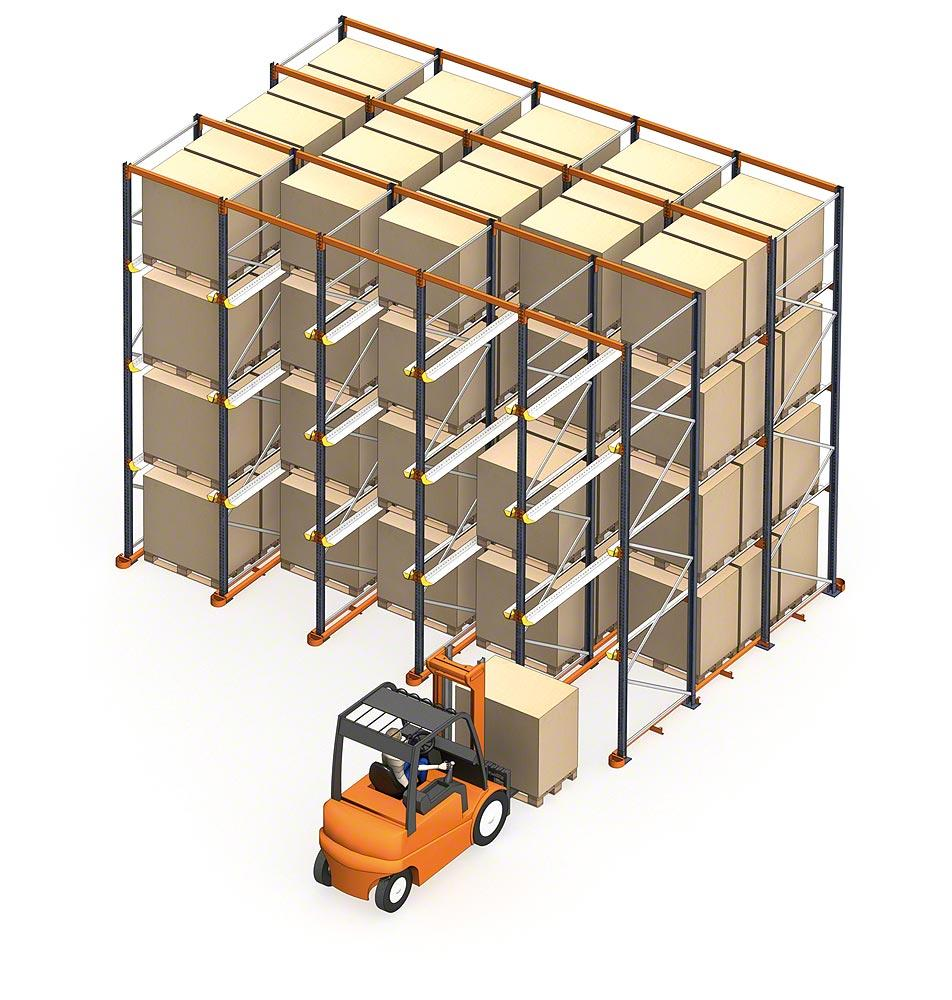 drive-in warehouse racking | drive In racking | Pallet racking